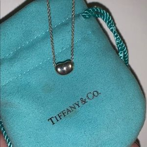 "Like New! Tiffany & Co 16"" Classic Bean Necklace"